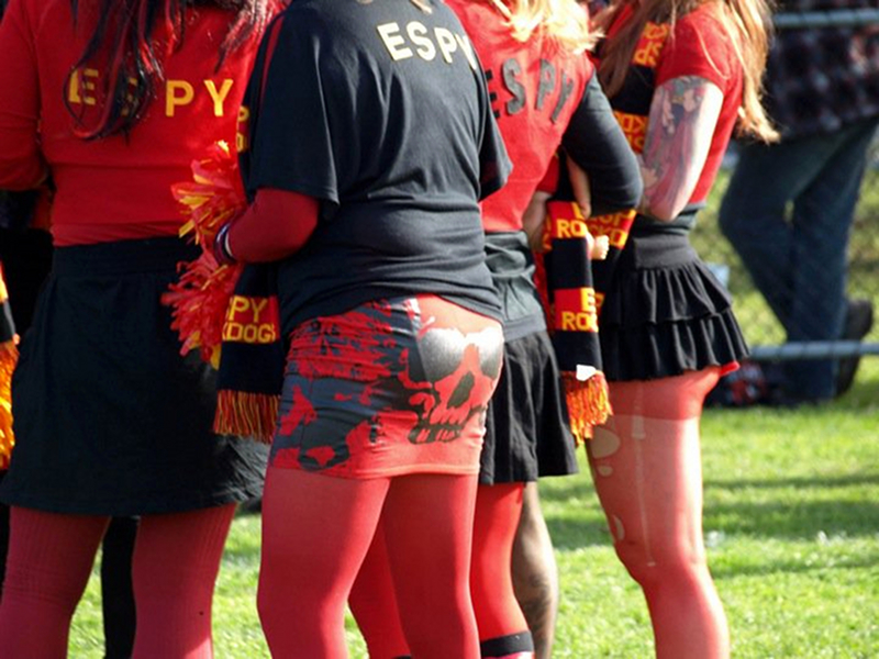 Community Cup cheerleaders